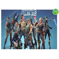 Oblea para tarta Fortnite rectangular Nº 521