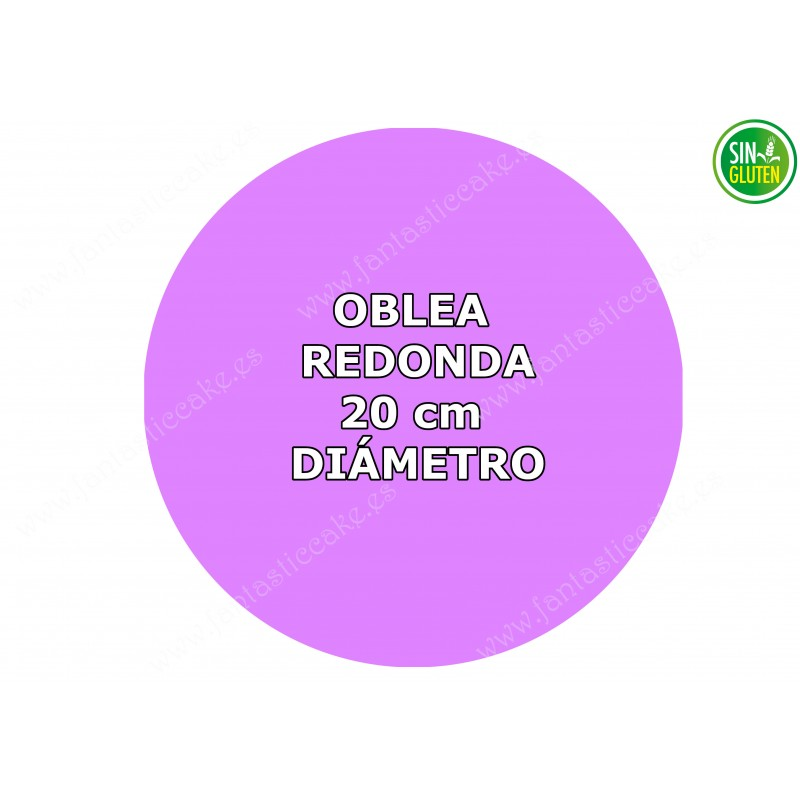 Oblea Personalizada Redonda para tarta 20 cm