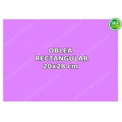 Oblea Personalizada Rectangular para tarta 20x28 cm