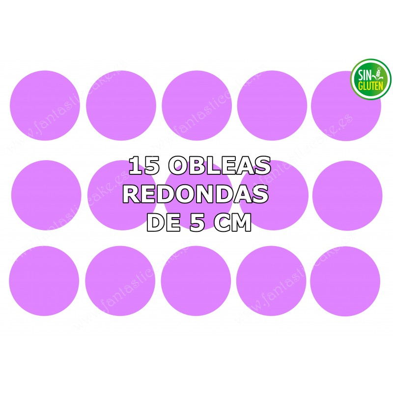 Oblea Personalizada redonda para galleta 5 cm