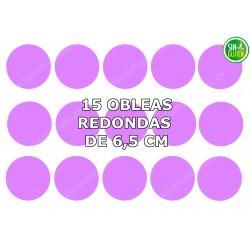 Oblea redonda para galleta Personalizada 6,5 cm