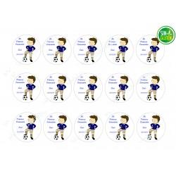 Oblea para Galletas de Comunión Niño Futbolista Nº 378