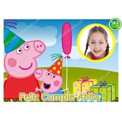 Foto - Oblea para tarta Peppa Pig Nº 574