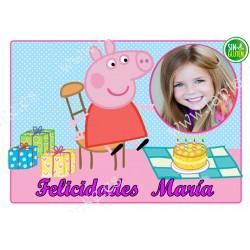 Foto - Oblea para tarta Peppa Pig Nº 580