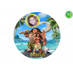 Foto - Oblea para tarta Redonda Vaiana Nº 583