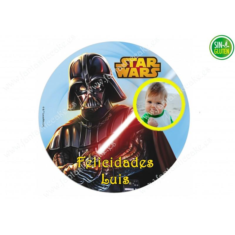 Foto - Oblea para tarta Redonda Star Wars Nº 586