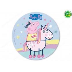 Oblea para tarta redonda Peppa Pig nº 223