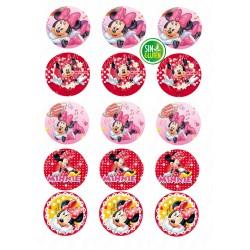 Oblea para Galletas Redonda de Minnie Mouse - SIN GLUTEN - FANTASTIC CAKE