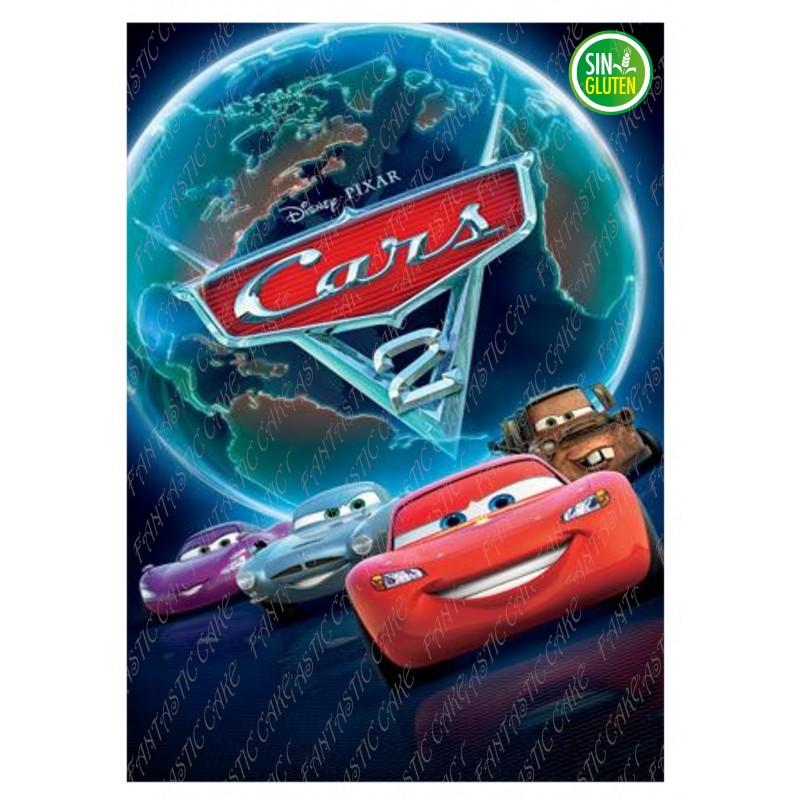 Oblea para tarta rectangular Cars - PAPEL DE AZUCAR CARS - SIN GLUTEN - FANTASTIC CAKE