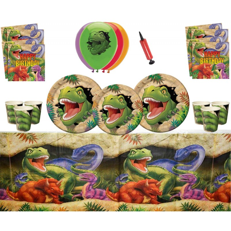 Vajilla para cumpleaños de Dinosaurios - Fantastic Cake