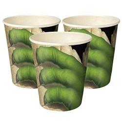 Vasos de dinosaurios - Platos de dinosaurio - Fantastic Cake