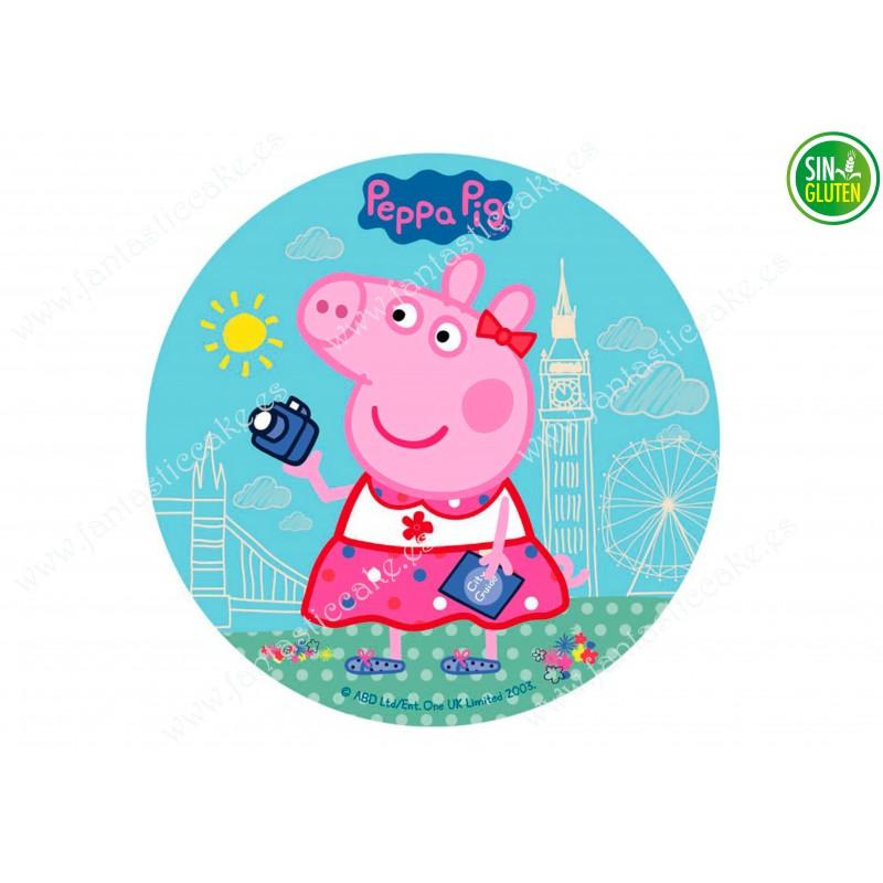 Oblea Peppa Pig para tarta redonda nº 598