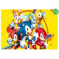 Oblea Sonic para tarta Nº 603