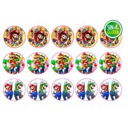 Obleas Mario Bross para Galletas  Nº 628