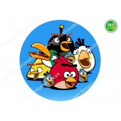 Oblea Angry Birds redonda Nº 640