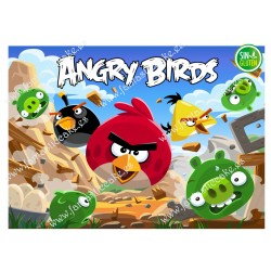 Oblea rectangular Angry Birds Nº 641