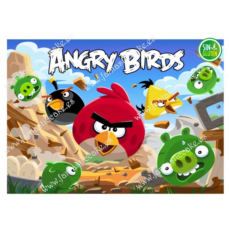 Oblea rectangular Angry Birds Nº 641