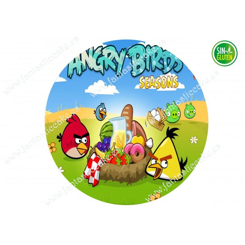 Oblea para tarta Angry Birds redonda Nº 644