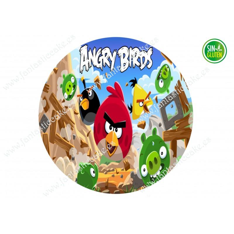 Oblea redonda Angry Birds para tartas Nº 645