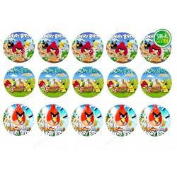 Oblea Angry Birds para galletas Nº 646