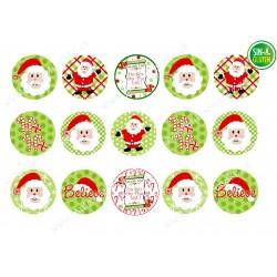 Obleas para Galletas Navidad Nº 652