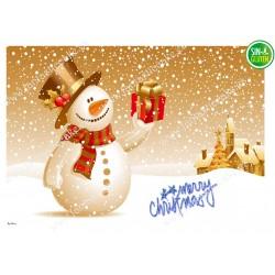 Oblea rectangular Navidad para tarta Nº 653