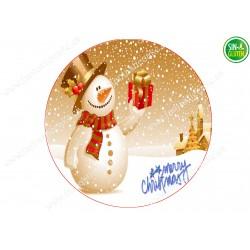 Oblea redonda Navidad para tartas Nº 655