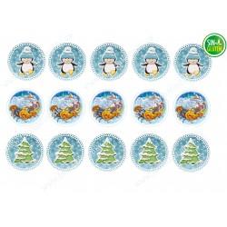 Obleas comestibles para Galletas Navidad Nº 658