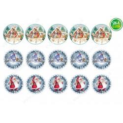 Obleas para Galletas Navidad comestibles Nº 659