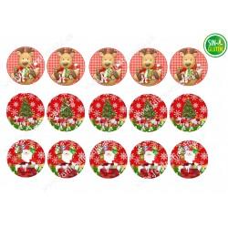Papel de azúcar Navidad para Galletas Nº 662
