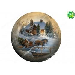 Navidad, Oblea redonda...