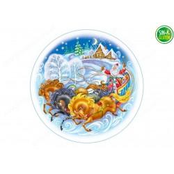 Oblea Trineo de Navidad para tartas Nº 670