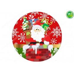 Oblea Papá Noel de Navidad para tartas Nº 671