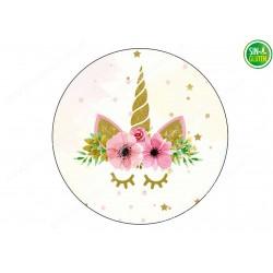 Obleas Unicornio para tarta Nº 681