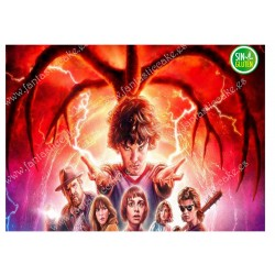 Oblea Stranger Things para tartas rectangular Nº 714