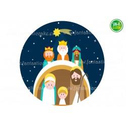 Oblea para tartas Belén Navidad Nº 724