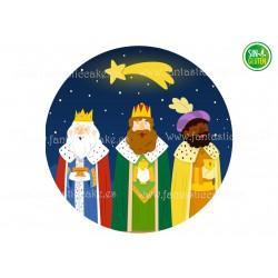 Oblea para tartas Reyes Magos Nº 727