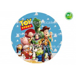Oblea redonda Toy Story...