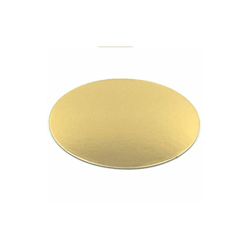 BASE REDONDA ORO-BLANCO 20 CM (3 Uds) - FANTASTIC CAKE
