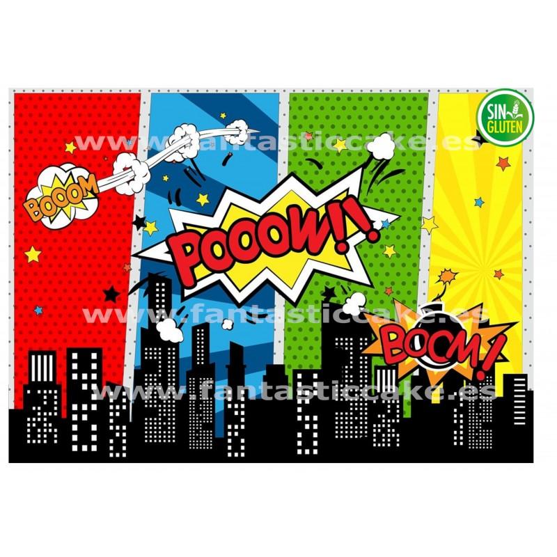 Oblea Super héroes para tarta Nº 744