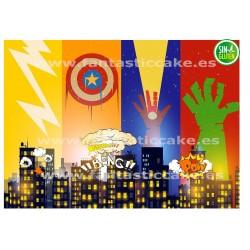 Super Heroes, Oblea para tarta Super héroes Nº 746