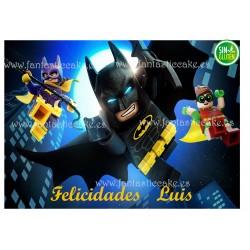 Oblea Batman Lego para tarta Nº 752