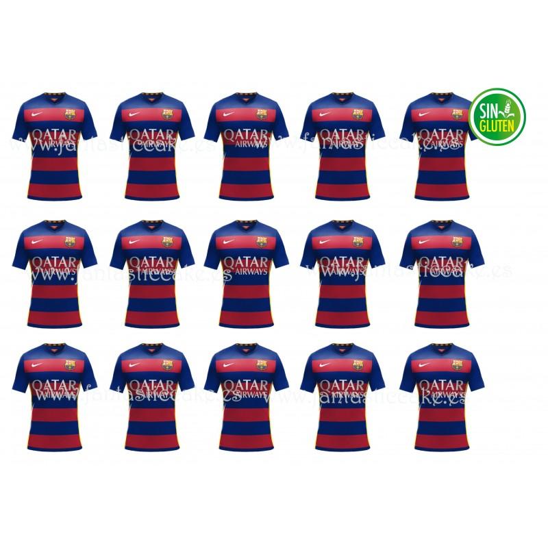 Oblea Camiseta Barcelona Fútbol Nº 757