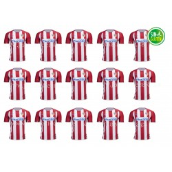 Oblea Fútbol Camiseta Atlético del Madrid Nº 758