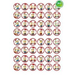 Oblea para Minioreos Minions Navidad Nº 769