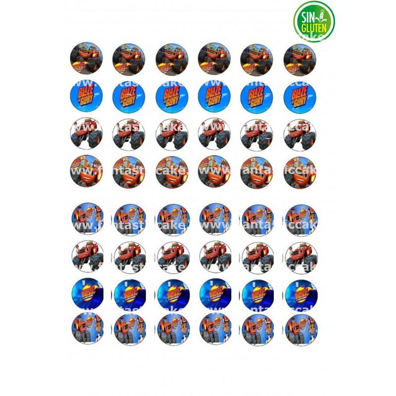 Oblea para Minioreos Blaze y Monster Machine Nº 773