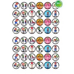 Oblea para Minioreos Mario Bross Nº 788