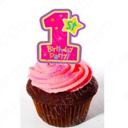 Toppers Cumpleaños 1 Niña