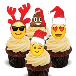 Toppers Emoticonos Navidad