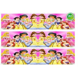 Cenefas - Papel de azúcar Princesas Disney Nº FJ5